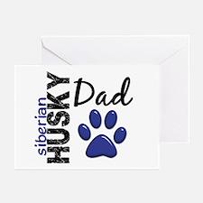 Siberian Husky Dad 2 Greeting Cards (Pk of 10)