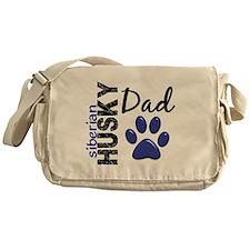 Siberian Husky Dad 2 Messenger Bag