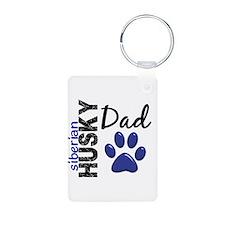 Siberian Husky Dad 2 Keychains