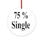 75% Single Ornament (Round)