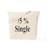 75% Single Tote Bag