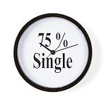 75% Single Wall Clock