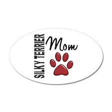 Silky Terrier Mom 2 22x14 Oval Wall Peel