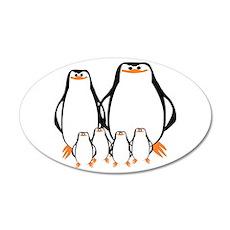 Penguin Family 22x14 Oval Wall Peel