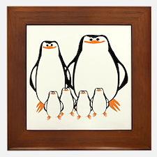 Penguin Family Framed Tile