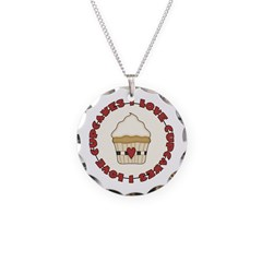 I Love Cupcakes Necklace