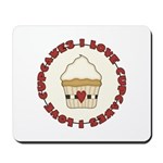 I Love Cupcakes Mousepad