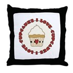 I Love Cupcakes Throw Pillow