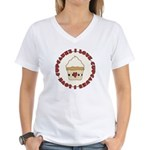 I Love Cupcakes Women's V-Neck T-Shirt