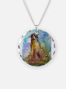 Mountain Lion, wildlife art, Necklace