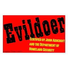Certified Evildoer Rectangle Decal
