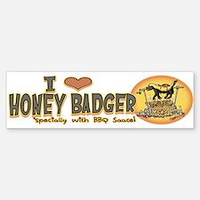 Love Honey Badger BBQ Bumper Bumper Sticker