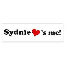 Sydnie loves me Bumper Bumper Sticker