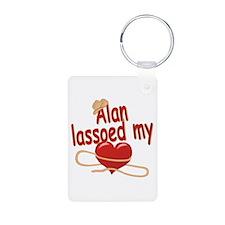 Alan Lassoed My Heart Keychains