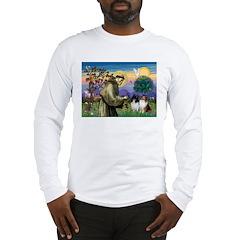 Saint Francis Sheltie Pair Long Sleeve T-Shirt