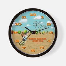 Skeet Trap Shooting Wall Clock