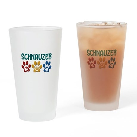 Schnauzer Mom 1 Drinking Glass