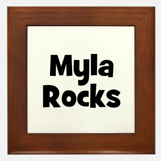 Myla Rocks Framed Tile