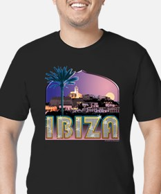 Ibiza Old Town Men's Fitted T-Shirt (dark)
