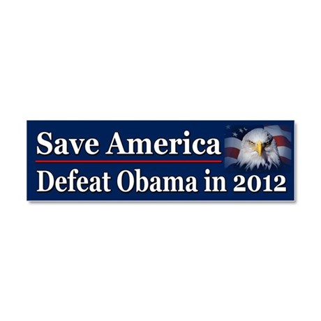 Defeat Obama in 2012 Car Magnet 10 x 3