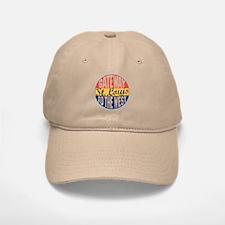 St Louis Vintage Label Baseball Baseball Cap