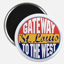St Louis Vintage Label Magnet