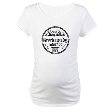 Breckenridge Distressed Circle Maternity T-Shirt