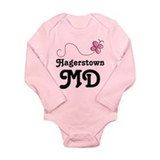 Hagerstown Maryland Long Sleeve Infant Bodysuit