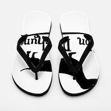 Von Daschund Black Flip Flops