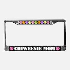 Chiweenie Mom License Plate Frame