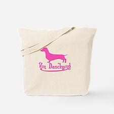 Von Daschund Pink Tote Bag
