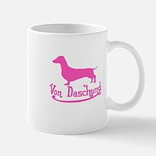 Von Daschund Pink Mug