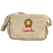 Christmas Wreath Casandra Messenger Bag