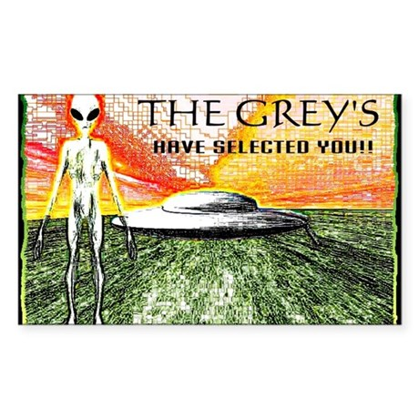 the greys have selected you Sticker (Rectangle)