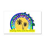 AlohaWorld Logo Car Magnet 20 x 12