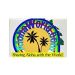 AlohaWorld Logo Rectangle Magnet (100 pack)