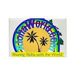 AlohaWorld Logo Rectangle Magnet