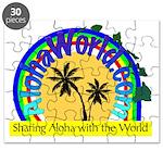 AlohaWorld Logo Puzzle