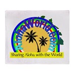 AlohaWorld Logo Throw Blanket
