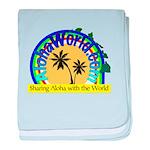 AlohaWorld Logo baby blanket