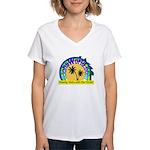 AlohaWorld Logo Women's V-Neck T-Shirt