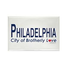PhiliadelphiaCityBrotherlyLoveBlue2 Magnets