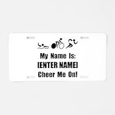 Tri Cheer Me [Personalize It! Aluminum License Pla