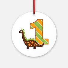 Dinosaur 1st Birthday Ornament (Round)