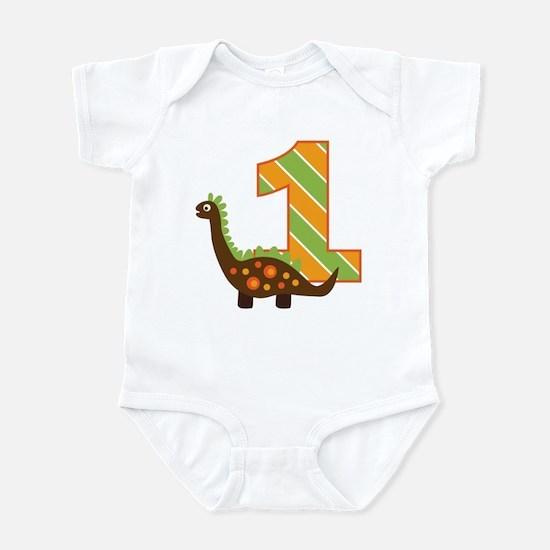 Dinosaur 1st Birthday Infant Bodysuit