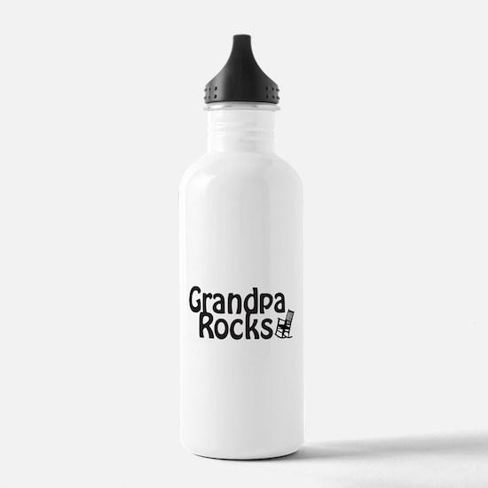 Grandpa Rocks Water Bottle