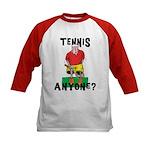 Funny Tennis Kids Baseball Jersey