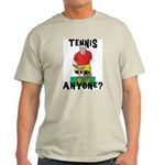Funny Tennis Ash Grey T-Shirt