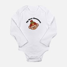 My First Christmas Boy Monkey Long Sleeve Infant B