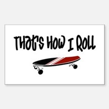 Skateboard Roll Decal